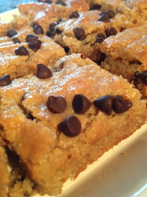 almond butter congo bars. Use raw honey with these instead of processed! #glutenfree #dairyfree