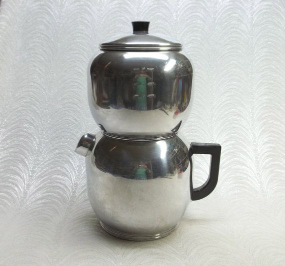 Old Drip Coffee Maker : Vintage 30s 40s West Bend KWIK DRIP 18 cup Coffee Maker...Totally Detailed...Clean & Shiny ...