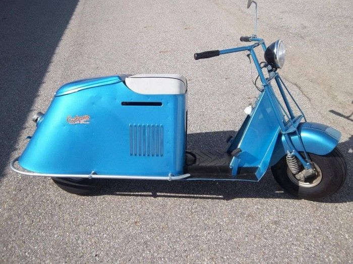 Hemmings find of the day 1947 cushman model 54 for Where can i buy a motor scooter