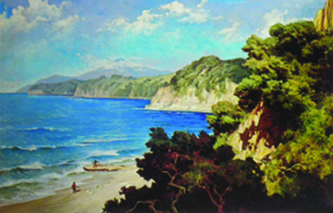 """Pantai Flores"" by Basuki Abdullah, Medium: oil on canvas, Size: 117cm X 180cm"