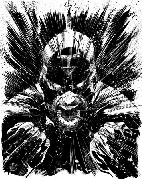 Black Bolt screams, by Matteo Scalera
