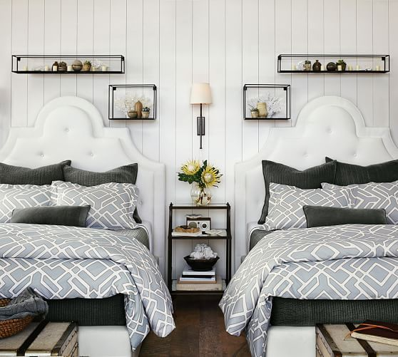 84 best images about pottery barn on pinterest upholstered bed frame floor mirrors and linens for Bedroom furniture pottery barn