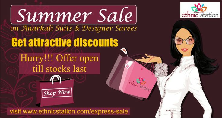 Ethnic Station #SummerSale is on. Grab gorgeous dresses at unbeatable prices. Hurry offer available only till stock lasts. Visit http://www.ethnicstation.com/express-sale now