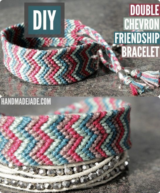 Diy Double Chevron Friendship Bracelet | Handmade Jade