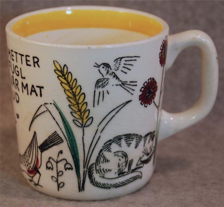 Vintage Stavangerflint Norway Childs Little Bird Animals Blessing Mug Liten Fugl | eBay