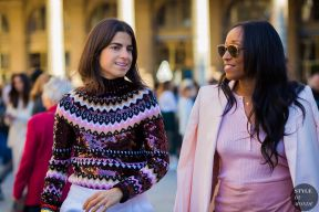 Leandra Medine and Shiona Turini after Isabel Marant fashion show. STYLE DU MONDE on Instagram @styledumonde, Pinterest, Twitter, Tumblr and Facebook