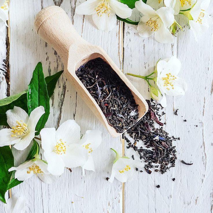 Tea with jasmine flowers — #jasmine #tea #foodphoto #kitchen #teatime #flower #flowers #restaurant #cafe #country #vintage #light #white #health #healthcare #fresh #morning #goodmorning #foodphotography #stockphotography #stockphoto #likeforlike #likeforl