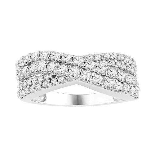 Awesome Fred Meyer Jewelers ct tw Diamond Bypass Anniversary Ring