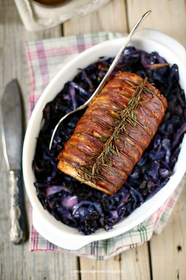 Arrosto di lonza di maiale e cavolo viola | Cucina Scacciapensieri