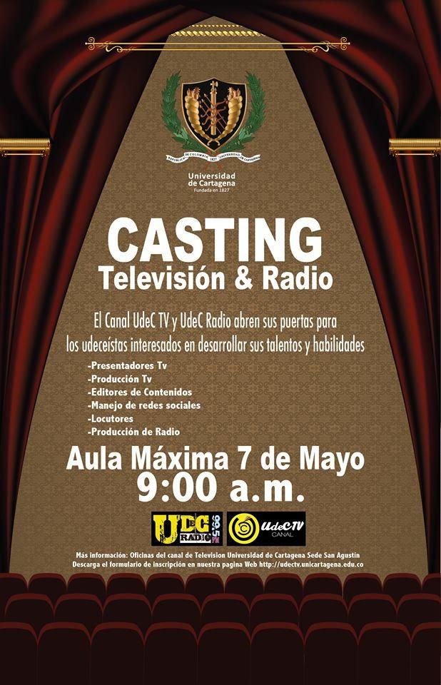 Convocatoria Casting de Televisión y Radio #Unicartagena #ConvocatoriaCastingTelevisiónyRadio #UdeCTV #UdeCRadio