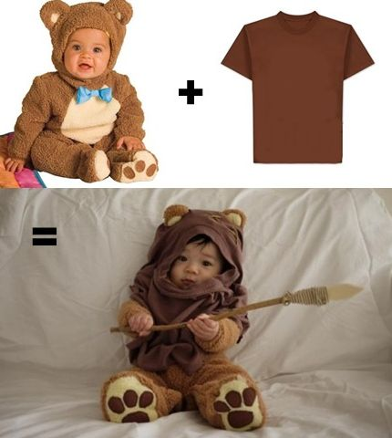 Baby Ewok costume. #Baby #Halloween #Costumes | Click Pick for 27 DIY Halloween Costumes for Kids to Make
