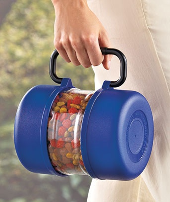 portable pet food and water container - genius!