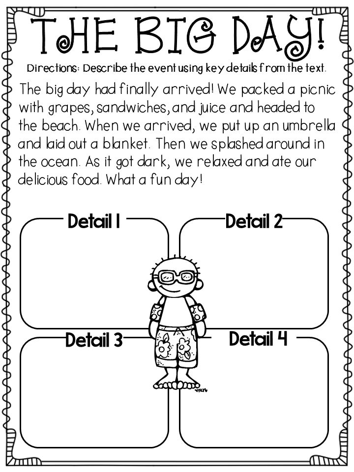 First grade reading passages with word count