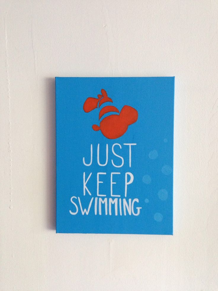 "Finding Nemo Disney Painting - ""Just Keep Swimming"" by PaintTheStarsStudio on Etsy https://www.etsy.com/listing/232393076/finding-nemo-disney-painting-just-keep"