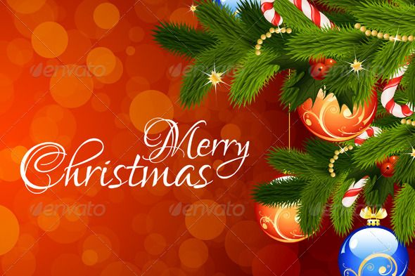 Merry Christmas Greeting Card — Vector EPS #fir tree #christmas ornament • Available here → https://graphicriver.net/item/merry-christmas-greeting-card/2978434?ref=pxcr