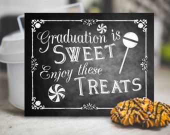 Graduation Candy Buffet Graduation Candy Signs set of 9