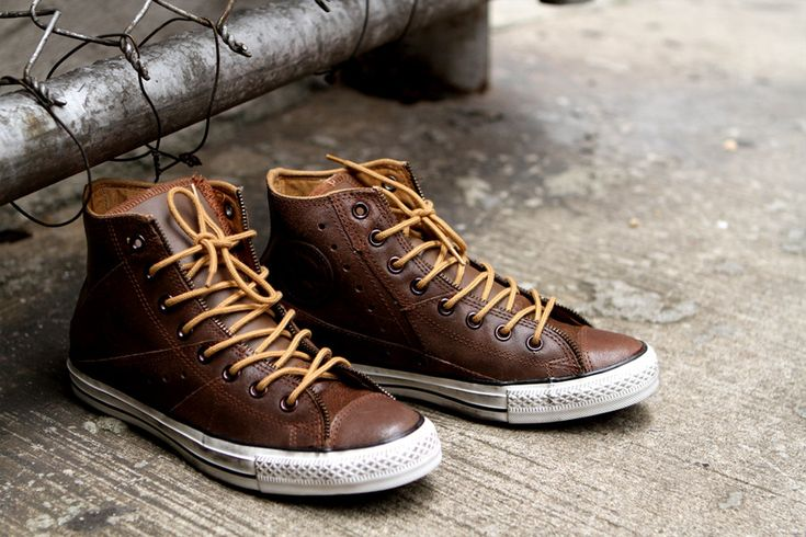 leather converse style shoes