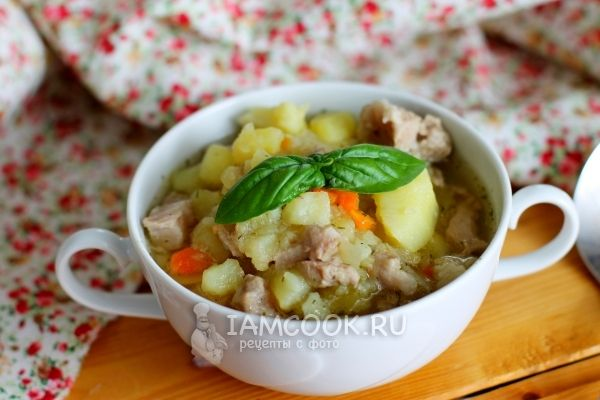 Рецепт свинины тушеной с картофелем в мультиварке