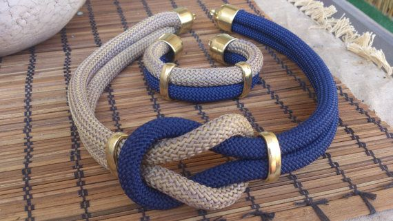 Necklace and bracelet set  Nautical Style by bizeli on Etsy, €22.00