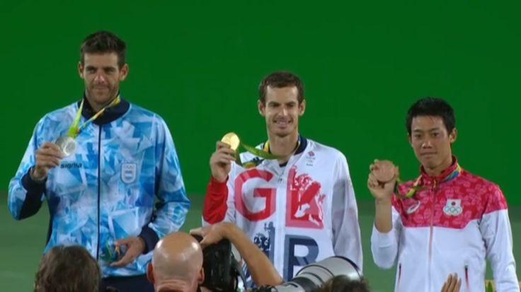 8月14日 テニス男子表彰式!  錦織くん銅メダルおめでとう‼︎ *\(^o^)/*  ---Miki