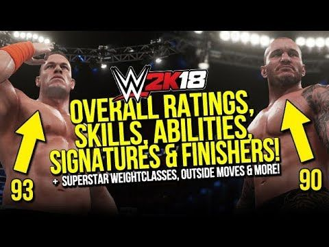 WWE 2K18: Overall Ratings, Skills, Abilities, Signatures & Finishers Revealed! - http://newsaxxess.com/wwe-2k18-overall-ratings-skills-abilities-signatures-finishers-revealed/