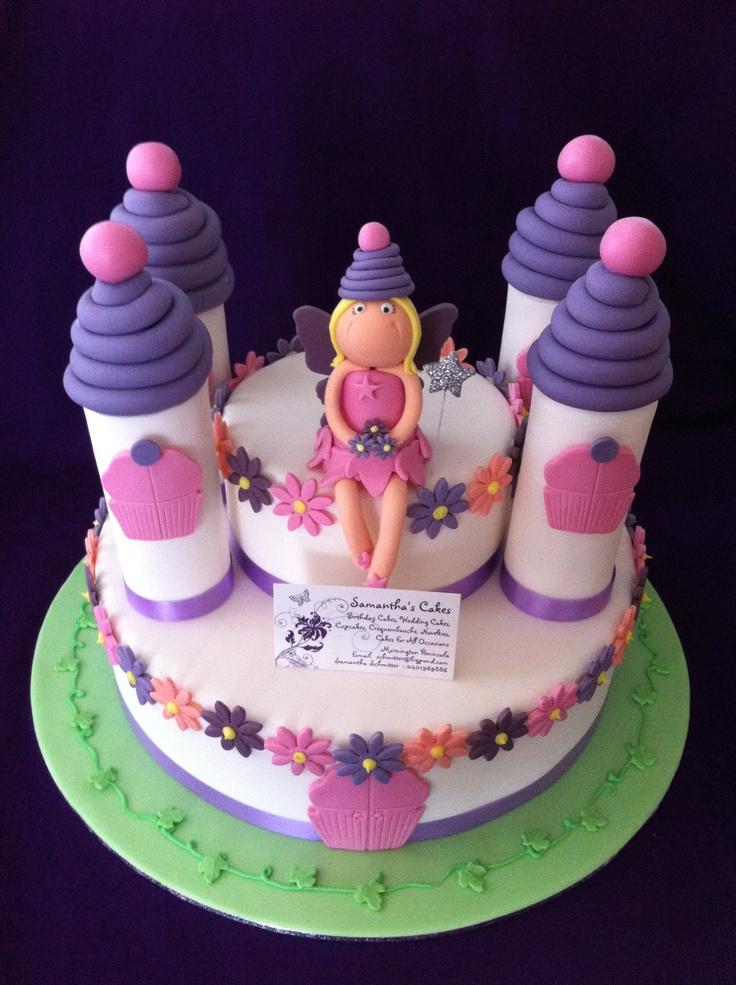 Cupcake Fairy Castle Cake