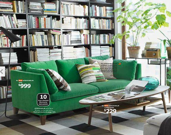 Love The Green Velvet Couch! IKEA