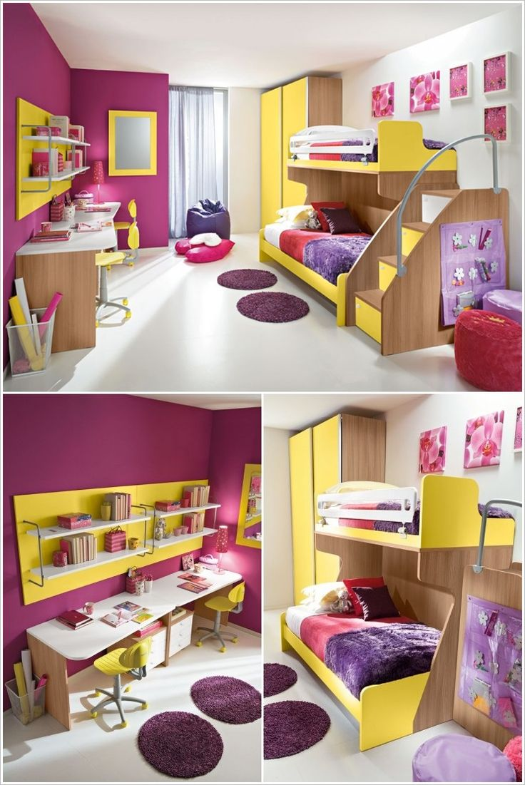 Of all the areas of a house, children's room allows you to literally play with shapes