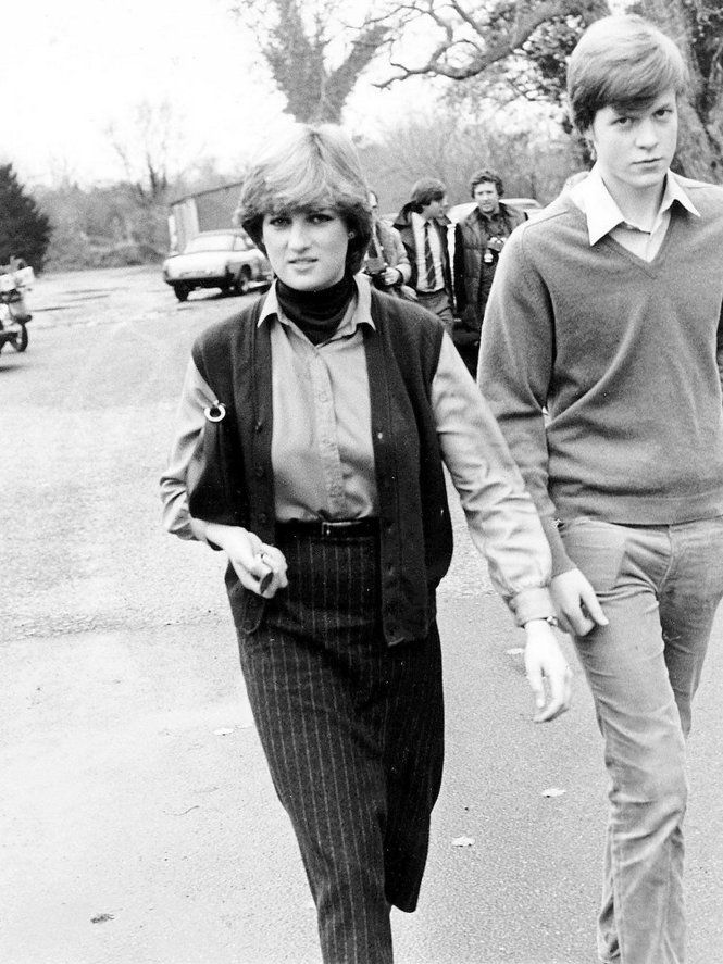 Lady Diana Spencer walks with her younger brother, Charles. File Photo Express Newspapers/Archive Photos