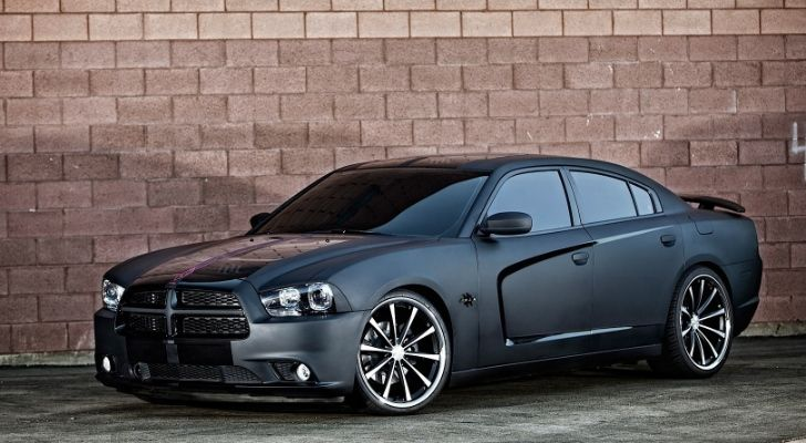2014 dodge charger matte black | Dodge Charger Gets Matte Black Wrap and Vossen Wheels [Photo Gallery]