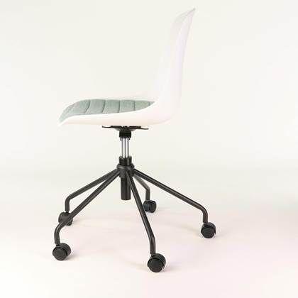 nolon nout bureaustoel witte zitting en zacht groen