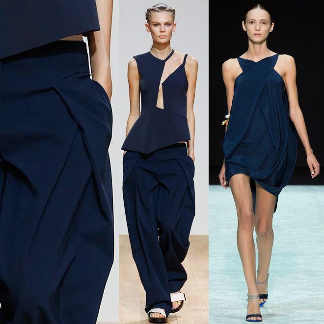темно-синие платья в моде весна лето 2015
