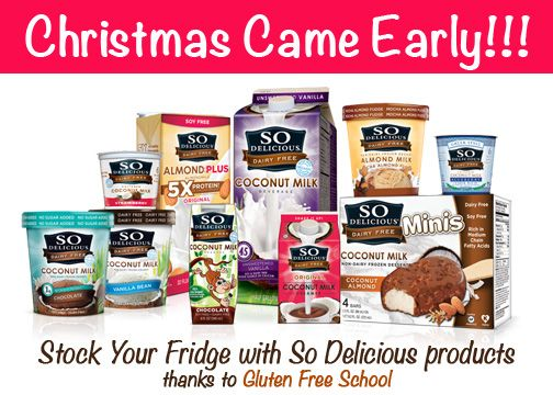 Enter to win your DAIRY FREE and GLUTEN FREE gift basket from So Delicious today!!!