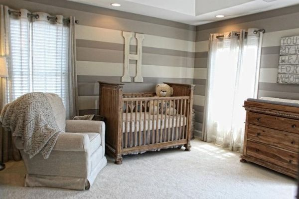 Baby boy nursery with reclaimed wood accent wall project for Boys room accent wall