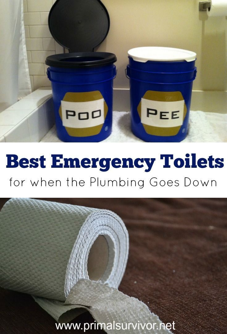 Your 3 Best Emergency Toilet Options For When The Plumbing Goes Down Discusses