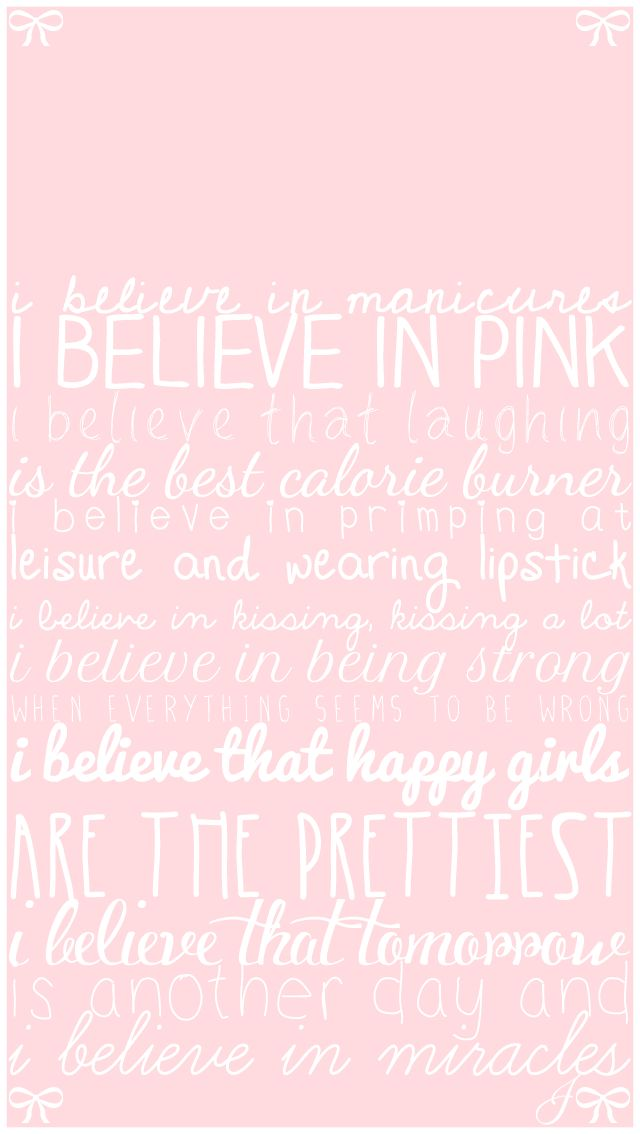 Pink Girly Quotes iPhone Wallpaper Lock Screen @PanPins
