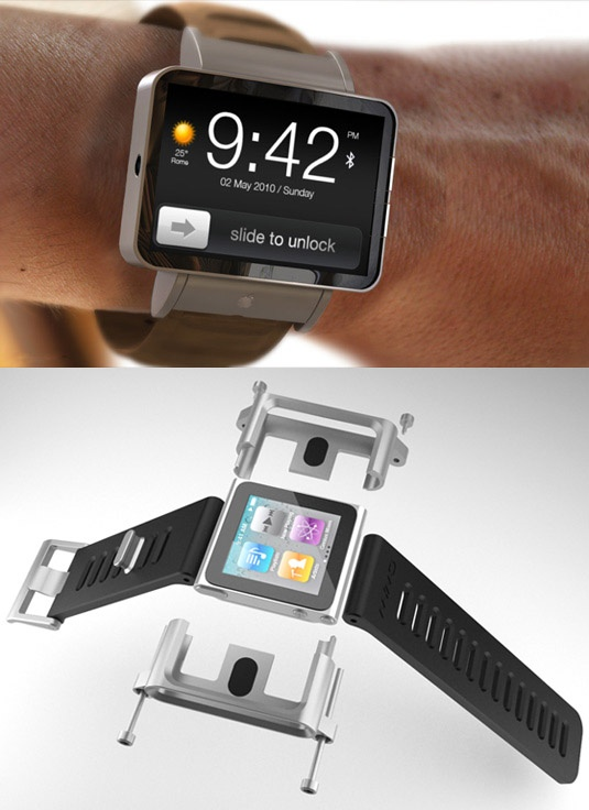 iWatch. Wrist watch band for the 6th generation iPod Nano. If I had this a decade ago, I probably would have cheated on tests in school more.
