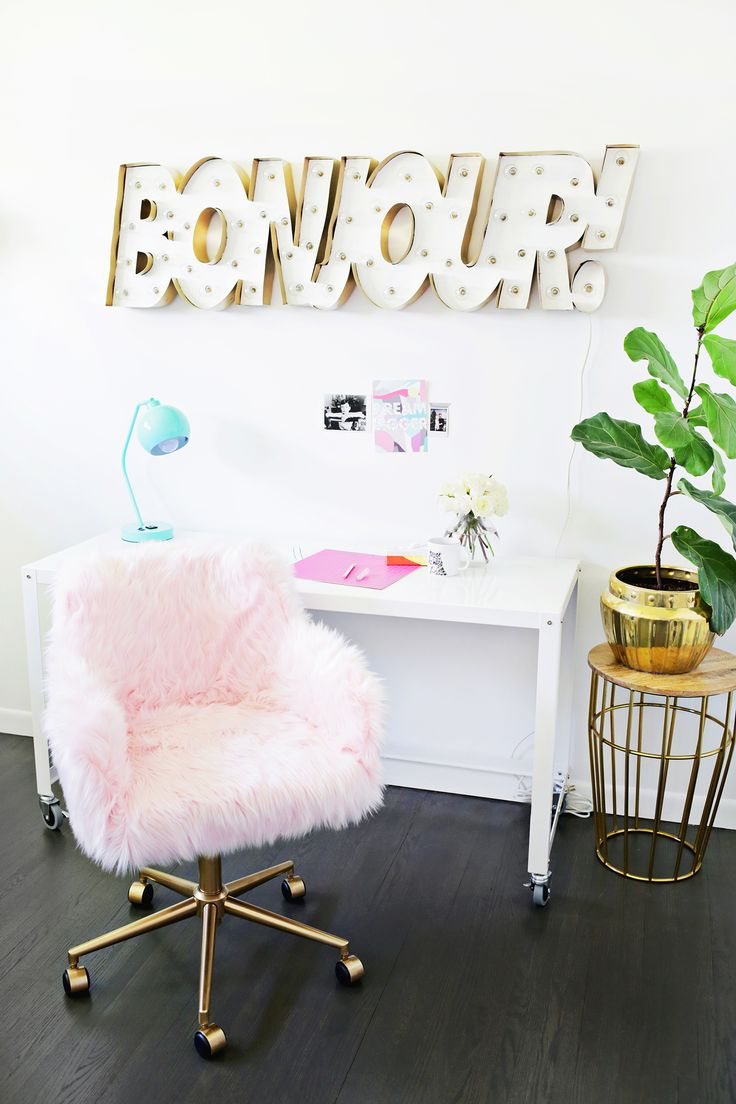Office chair makeover, so cute! (click through for tutorial) | #diy
