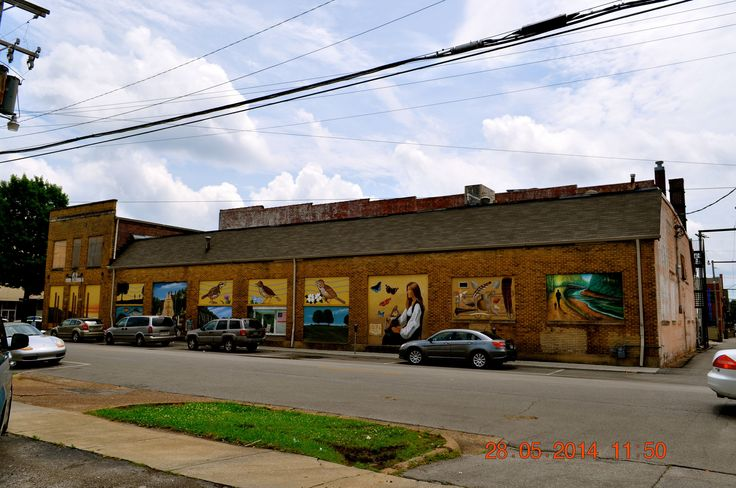 https://flic.kr/p/nuFMXL | Murals on Freds Store Building | 2014 May 28 Murals on Freds Building in Florence Al