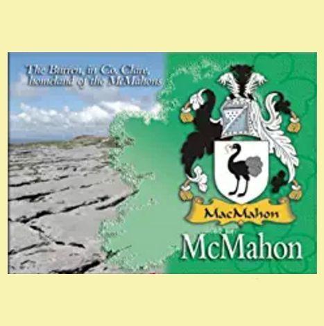 For Everything Genealogy - McMahon Coat of Arms Irish Family Name Fridge Magnets Set of 2, $12.00 (http://www.foreverythinggenealogy.com.au/mcmahon-coat-of-arms-irish-family-name-fridge-magnets-set-of-2/)