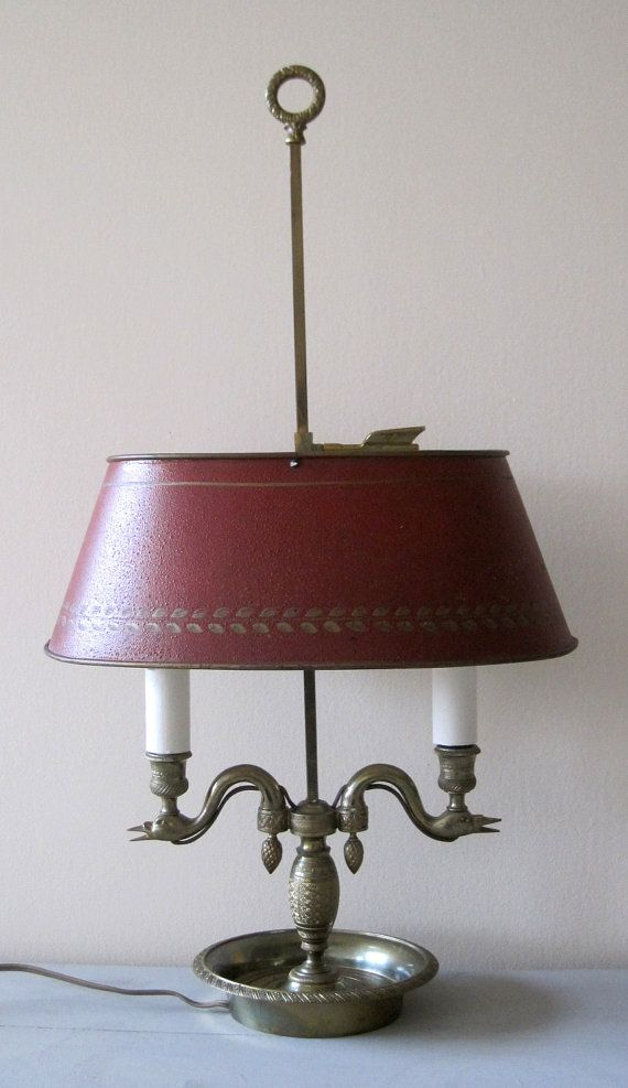 Antique french brass lamp bouillotte with by vintagefrenchfinds 650 00