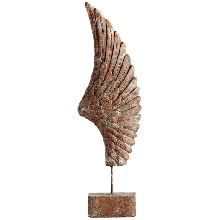 """Cyan Design Feathers Of Flight Right 36""""H Rustic Sculpture - Style # 19K84"""