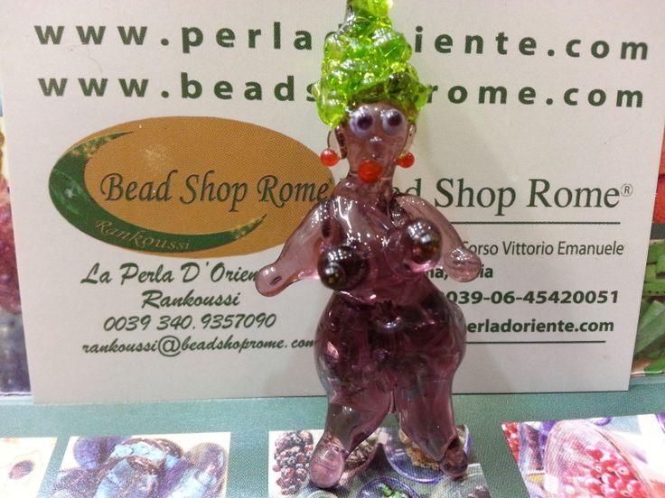 bead shop rome via sora 30 / 31 .Artistic Glass Beads Hand made by Rankoussi