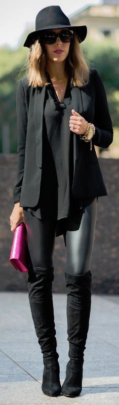 Black With A Pop Of Pink / Fashion By For The Love of Fancy