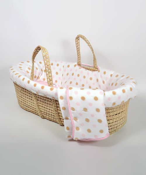 11 best nouveauts fvrier 2015 images on pinterest animaux baby take a look at this pink polka dot fleece moses basket set by tadpoles on today fandeluxe Image collections