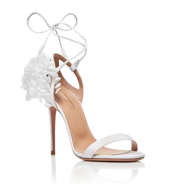 Wedding Shoes White Sandal Four Inch Heel Designer Shoes Aquazzura Bridal Heels Wedding Shoes Bridal Shoes Designer Wedding Shoes