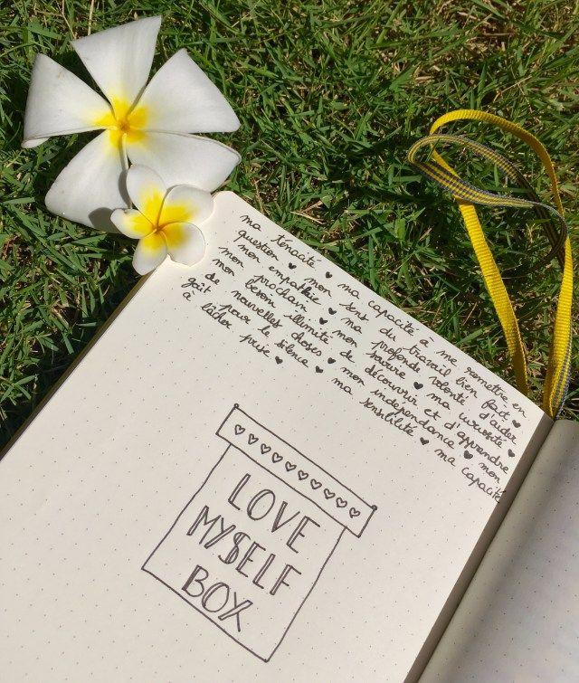 Bullet journal français / love myself box / développement personnel / gratitude / bujo