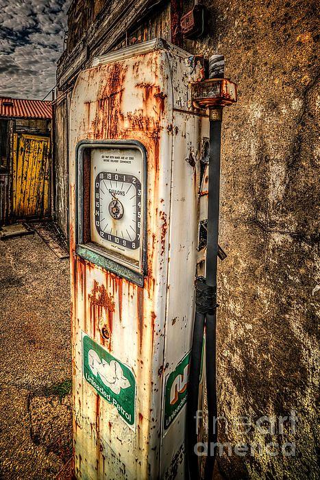 Rusty Gas Pump by Adrian Evans