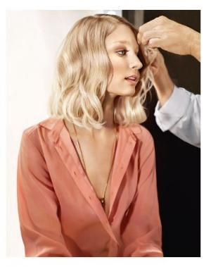 Majirel Blush Blonde Technique  1. Apply 7.12 at the regrowth 2. Apply 8.12 at the mid-lengths  3. Apply 9.12 through the ends to create a gradient result.  Formula: 9.12 + 8.12