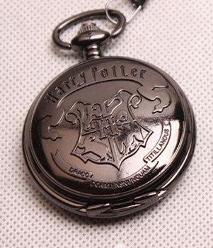ON SALE-Harry Potter  pocket watch QUARTZ Pocket Watch Black Chrome Pocket Watch Pendant 264-884. $10.99, via Etsy.